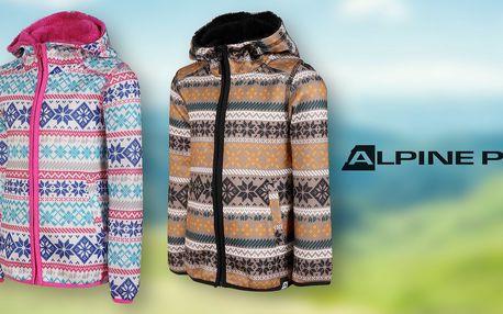 Dětské svetry Alpine Pro: hnědá a růžová barva