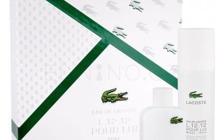 Lacoste Eau De Lacoste L.12.12 Blanc dárková kazeta pro muže toaletní voda 50 ml + deodorant 150 ml