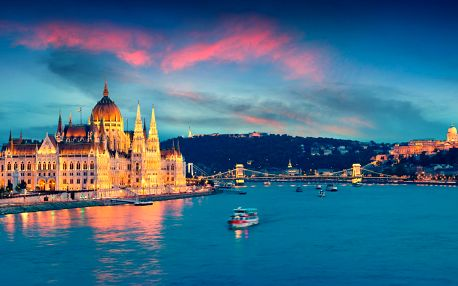 Valentýnská Budapešť: 3 noci, město i termály