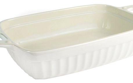 IB LAURSEN Zapékací mísa Mynte Pure White Velikost L, bílá barva, keramika
