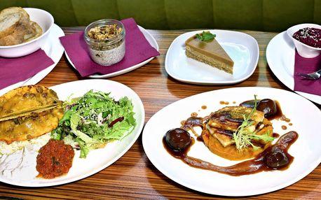 Vegetariánské menu podle výběru pro dva