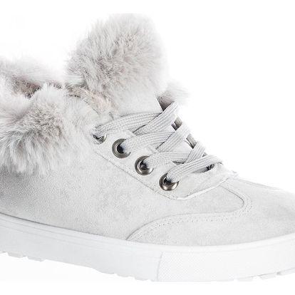 Fashion world Dámské zimní tenisky s kožichem pohodlné