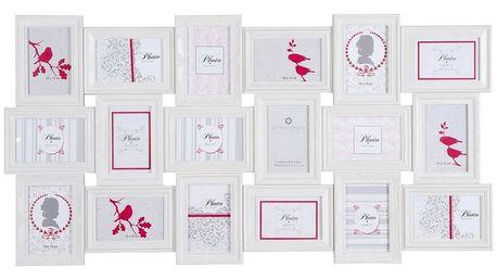Atmosphera Créateur d'intérieur Obdélníkový rámeček pro 18 fotek ROMANCE, fotorámeček, rámeček na fotky - mini galerie na fotky, 53x103x2cm