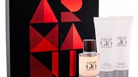Giorgio Armani Acqua di Gio Absolu dárková kazeta pro muže parfémovaná voda 40 ml + sprchový gel 75 ml + balsam po holení 75 ml