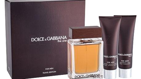 Dolce&Gabbana The One For Men dárková kazeta pro muže toaletní voda 100 ml + balzám po holení 50 ml + sprchový gel 50 ml