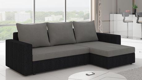 Rohová sedačka LIWIO 9, šedá látka/černá látka