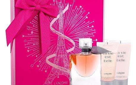 Lancôme La Vie Est Belle dárková kazeta pro ženy parfémovaná voda 50 ml + tělové mléko 50 ml + sprchový gel 50 ml