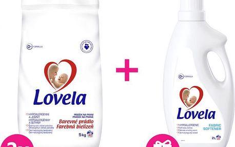 2x LOVELA Color prací prášek 5 kg (40 dávek) + Lovela aviváž 2 L