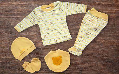 Pěti nebo sedmidílné sety oblečení pro miminka