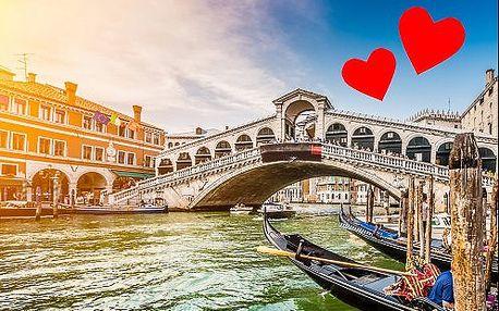 VALENTÝN - Benátky, Verona a Sirmione. Kouzelný 4-denní zájezd s ubytováním a průvodcem
