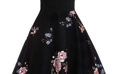 Krajkové šaty s květinami