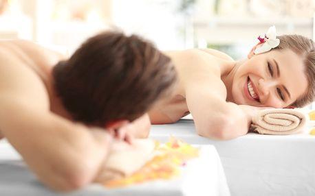 Luxus pro dva: Zlatá masáž, relaxace a nápoj