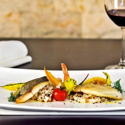 Degustační menu s roštěncem nebo filety dorády