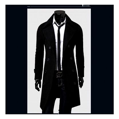 Pánský kabát Giorgio - Černá-M-1 - dodání do 2 dnů