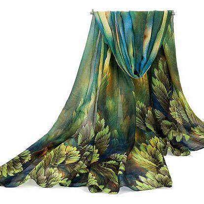 Dámský podzimní šátek - 180 x 100 cm