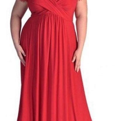 Dámské šaty v plus size velikostech v elegantním provedení - 3 barvy