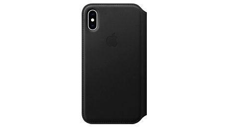 Apple Leather Folio pro iPhone Xs černé (MRWW2ZM/A)