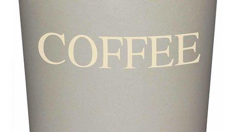 Kitchen Craft Bambusová dóza na kávu Grey, šedá barva, dřevo
