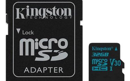 Kingston Canvas Go! MicroSDHC 32GB UHS-I U3 (90R/45W) + adapter (SDCG2/32GB)