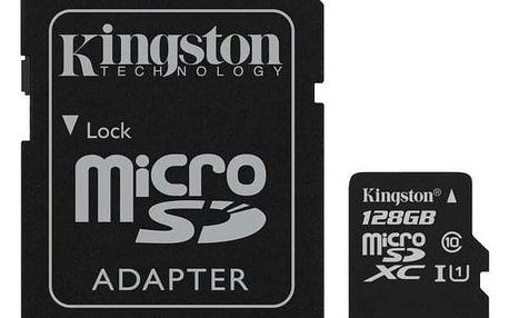 Kingston Canvas Select MicroSDXC 128GB UHS-I U1 (80R/10W) + adapter (SDCS/128GB)