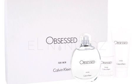 Calvin Klein Obsessed For Men dárková kazeta pro muže toaletní voda 125 ml + sprchový gel 100 ml + deostick 75 ml