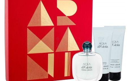 Giorgio Armani Acqua di Gioia dárková kazeta pro ženy parfémovaná voda 50 ml + tělové mléko 75 ml + sprchový gel 75 ml
