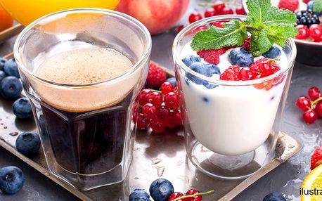 Jogurtový dezert a káva dle výběru z 5 druhů