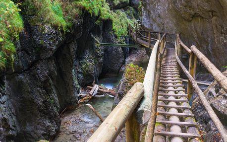 1denní výlet do kaňonu Medvědí soutěska v Rakousku - květen, červen a srpen