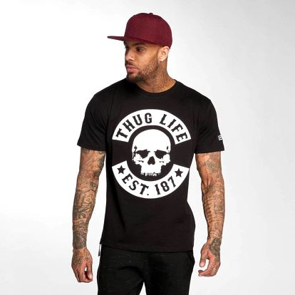 Thug Life / T-Shirt B.Skull in black L