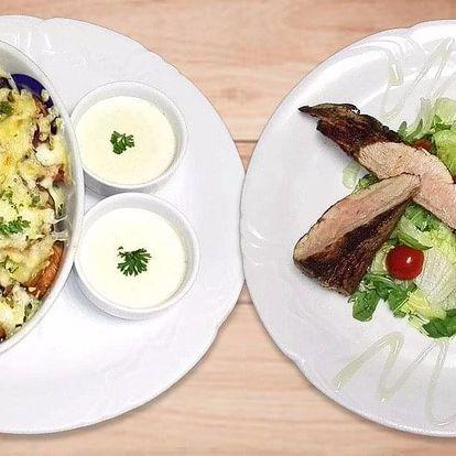 Masový talíř s bramborovými dukáty pro 2 osoby