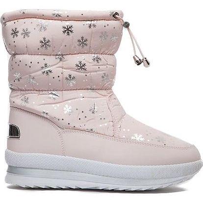 Dámské růžové sněhule Fairy 012