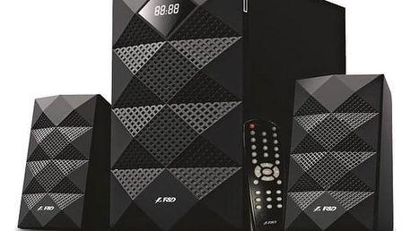 Fenda F&D A180X 2.1, bluetooth, rádio, USB, SD, dálkové ovládání černé (A180X)