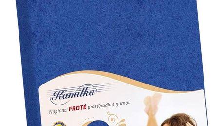 Bellatex Froté prostěradlo Kamilka tmavě modrá, 100 x 200 cm