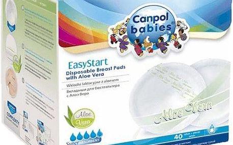 CANPOL BABIES Tampóny do podprsenky EasyStart 40ks AloeVera