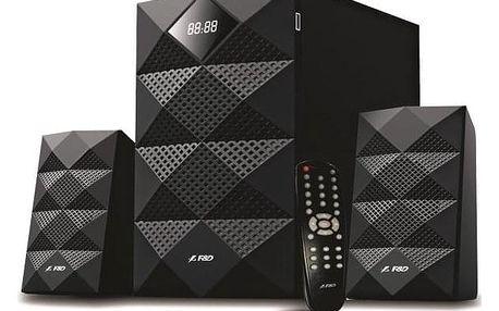 Fenda F&D A180X 2.1, bluetooth, rádio, USB, dálkové ovládání černé (A180X)
