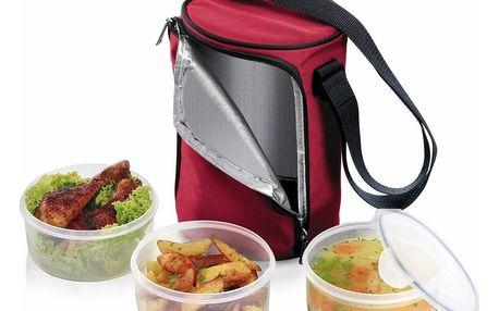 TESCOMA jídlonosič FRESHBOX se 3 dózami 1.5 l, 1,5 l