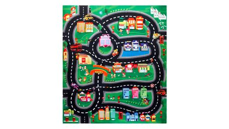 Koopman Dětská hrací podložka s autíčky Downtown, 70 x 80 cm