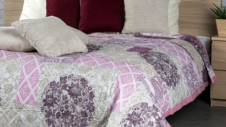 Night in Colours Přehoz na postel Ottorino fialová, 240 x 200 cm