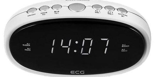 ECG RB 010 Digitální radiobudík, bílá2