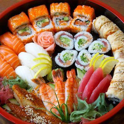 Sushi menu: 24, 36 nebo 46 čerstvých rolek