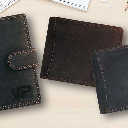 Pánské kožené peněženky z broušené buvolí kůže