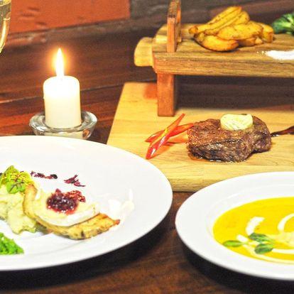 6chodové degustační menu pro 2 osoby