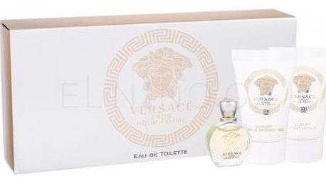 Versace Eros Pour Femme dárková kazeta pro ženy toaletní voda 5 ml + sprchový gel 25 ml + tělové mléko 25 ml miniatura