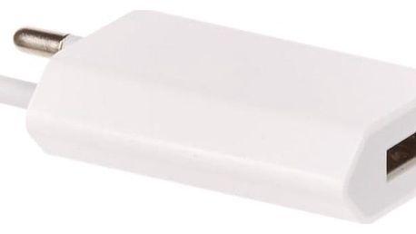 OEM pro iPhone, iPod, výkon 1A/5W bílá (BA2500008324132)