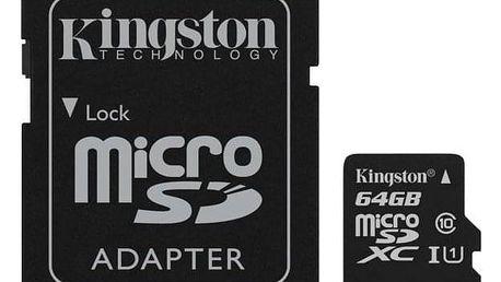 Kingston Canvas Select MicroSDXC 64GB UHS-I U1 (80R/10W) + adapter (SDCS/64GB)