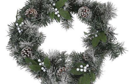 Vánoční věnec Capua zelená, pr. 45 cm