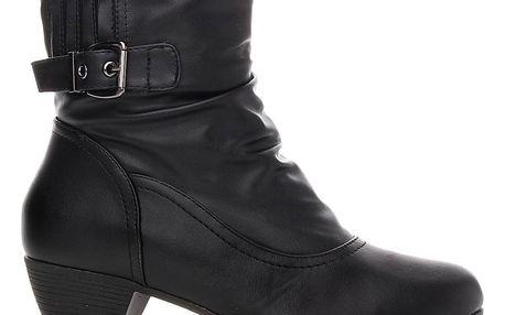 Xisuxin Dámská nadměrná obuv - kozačky M808-1B Velikost: 42 (26.5 cm)