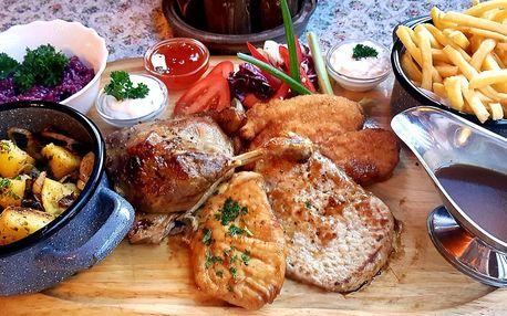 Masové hody pro 2–3: kachna, steak i přílohy