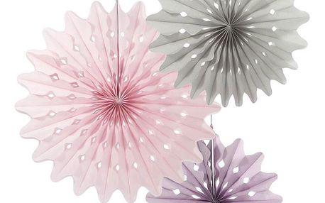 Talking Tables Závěsné papírové dekorace Paper Fans - set 3 ks, multi barva, papír
