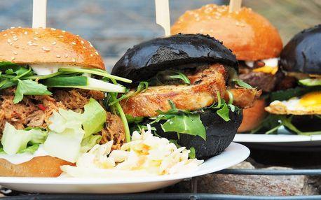 Burger ve Freaky burgers dle výběru ze 4 druhů